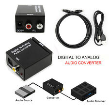 Coaxial Toslink Digital to Analog Jack Audio Optical Cable RCA Converter 3.5mm