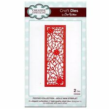 Sue wilson noël festive collection-holly mini Striplet CED3039