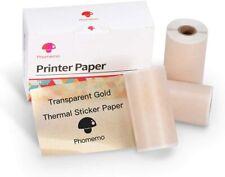 3 Rolls Phomemo Thermal Sricker Paper for M02/M02 Pro/M02S Printer 50mm x 3.5m
