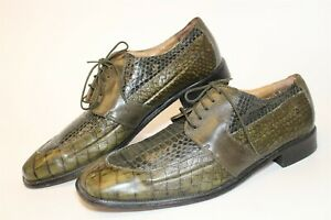 Stacy Adams Mens Size 14 M Genuine Snake Leather Square Toe Oxford Shoe 23328-04