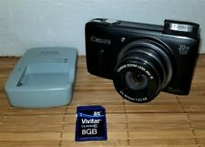 CANON POWERSHOT SX260 HS 12.1 MP DIGITAL CAMERA WITH SD CARD/CHARGER/CASE!