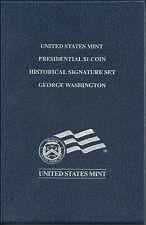 USA 2007 George Washington Presidential Dollar Historical Signature Set $1 Coin