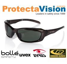 Eyres RAZOR POLARISED Safety Glasses / Sunglasses Crystal Charcoal Frame!