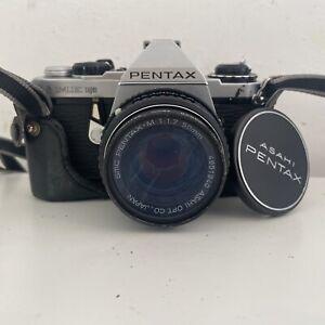 Pentax ME Super SLR FILM CAMERA w/ SMC Pentax-A 50mm F/1.7 Lens WORKING