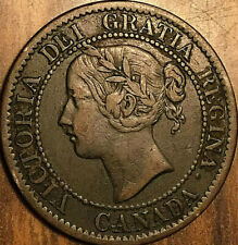 1859 CANADA LARGE CENT PENNY 1 CENT COIN - Low 9