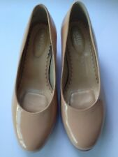 Hotter Comfort Magnolia/Warm Cream Patent Leather Ladies Shoes size UK6.5