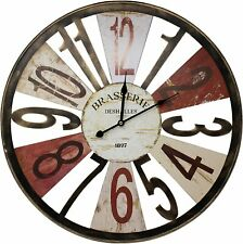 """Sorbus Large 24"""" Analog Wall Clock for Living Room - Rustic Farmhouse Wall Décor"""