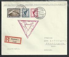 1933 Chicagofahrt, Michel N. 498 auf Zeppelin Brief  mit 379 und 380 MIF (B192)