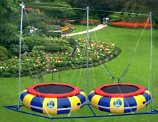 Commercial 2 Person Bungee Jump Trampoline Ride Inflatable Bounce We Finance