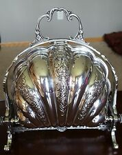 Antique Silverplate Biscuit Warmer Hand Chased N.S. Mounts England