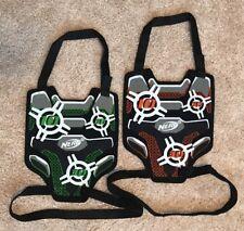 NERF N-Strike Dart Tag Target Vests Lot of Two (2) 1 Green and 1 Orange