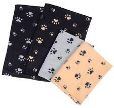 Paw Print Dog Cat Pet Fleece Blanket Puppy Kitten Bed Soft Mat 73cmx70cm Uk Sell