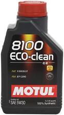 1 lt Motul 8100 Eco-clean 5W30 Olio Motore 100% Sintetico ACEA C2 Fiat,Alfa,PSA