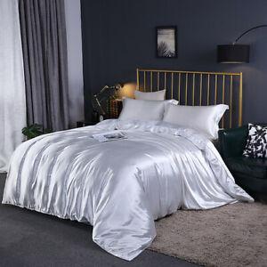 Home 4-piece Set of Silk Bedding, Satin Deluxe Queen Size Bedding 2020 New