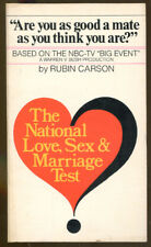 The National Love, Sex & Marriage Test by Rubin Carson-First Edition-1978