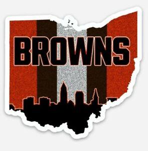 Cleveland Browns Magnet - City Dawg Pound Custom Vinyl NFL Ohio Magnet