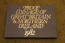 1982 UK COIN ROYAL MINT PROOF SET GREAT BRITAIN + NI 8 COIN CASED COLLECTION