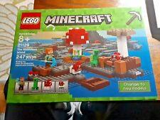 UNOPENED 2017 Complete LEGO Minecraft Set: The MUSHROOM ISLAND 247 PIECES