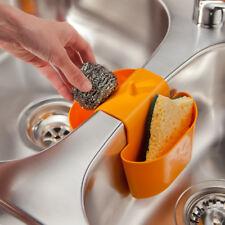 schwammhalter Fregadero escurridor almacenamiento cocina Naranja Plástico