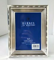 NWT BURNES OF BOSTON 5x7 Silver Picture Frame