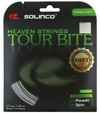 SOLINCO TOUR BITE SOFT TENNIS STRING 1.20MM 17G - ONE 12M SET - SILVER RRP £18