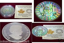 2014 Proof $20 Interconnections #1-Land Beaver Canada hologram .9999 silver