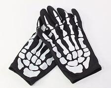 Pair of Skeleton Hand Bone Finger Costume Gloves Halloween Party Gift USA Seller