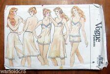 Vintage Vogue Sewing Pattern Camisole Teddy Slip Panties Uncut FF Size 8 #8219