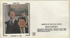 1971 Presidents Carter & Reagan LISDA '80 Z Silk Cachet FDC SAMPLE