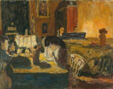 Bonnard Pierre Evening In The Livingroom Canvas 16 x 20  #3287