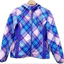 Snozu Plaid Faux Fur Lined Windstop Jacket Girls 14/16