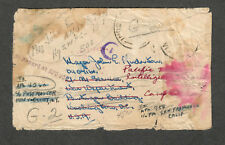 US APO Cover Forwarded Multiple Times WW2 Directory Service Marks
