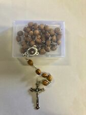 NEW Wooden Rosary Beads Necklace in Gift Box