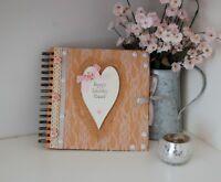 Wedding Planner Book Journal Organiser Gift DIY Bride to Be Hand Decorated