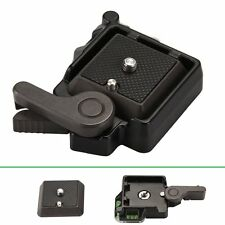 """Clamp w 1/4"""" Screw Quick Release Plate Adapter For DSLR Monpod Tripod Ball Head"""