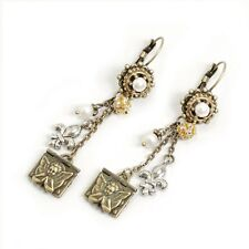 NEW SWEET ROMANCE FRENCH CHERUB ANGEL LOCKET LEVERBACK EARRINGS  ~~USA MADE ~~