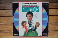 GREETINGS Robert de Niro - NEW LaserDisc - FREE Post - mmoetwil@hotmail.com