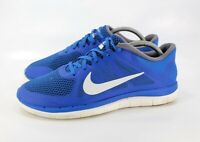 Nike Free 4.0 Flyknit Athletic Running Shoes Men's Size 9 642197-410 Blue White