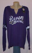 Plus Size Baltimore Ravens Womens Thermal Long Sleeve Shirt Plus Size LRG - NFL