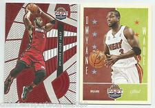(2) 2012-13 PAST PRESENT DWYANE WADE TREADS / BASE LOT MIAMI HEAT