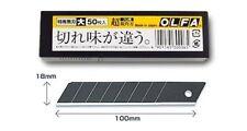 OLFA TOKUSEN BLACK HEAVY DUTY BLADE 50 PIECES LBB50K FROM JAPAN