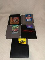 Lot of 5 Nintendo NES Video Game Cartridges RC Pro-Am Ice Hockey Caveman Games +