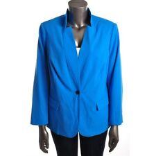 7ddbf7cfa88 Vince Camuto Blue Long Sleeves Notch One-Button Blazer Jacket Plus 24W - NEW
