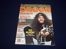 1977 SEPTEMBER CREEM MAGAZINE - TED NUGENT - GREAT MUSIC CENTERFOLD - C 4570