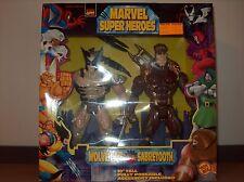 MIB Marvel Super Heroes Wolverine vs Sabretooth Toy Biz 10in 1997