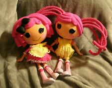 "Lot of 2 Lalaloopsy Pink Silly Hair & Pink hair w/Bow 12"" Full Size Dolls Toy"