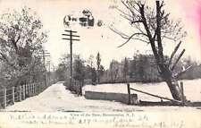 Hammonton New Jersey birds eye view showing dam from road antique pc Z21402