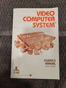 1980 Atari Video Computer System CX2600A Owners Manual