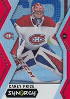 CAREY PRICE NO:15 SYNERGY RED   in UPPER DECK SYNERGY 2017-18     a