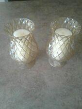 "2-11.5"" Colonial Williamsburg Glass Hurricane Candle Holder Chimney Shade Globe"